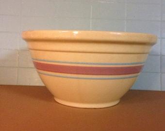 "Nice Vintage Yellow Ware12"" Hull Mixing Bowl"