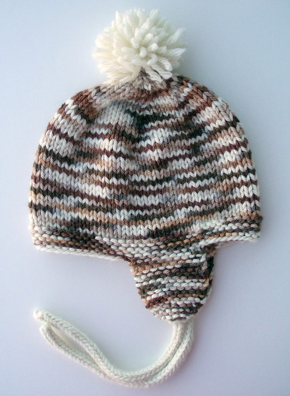 The Ky Baby Knits Ear Cozy Hat Knitting Pattern with Sizes