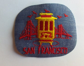 San Francisco California Trolley Retro Vintage 1970's Sewing Patch Applique