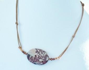 SALE Leather Necklace