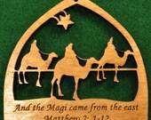 Wood Nativity Ornament - 3 Wise Men