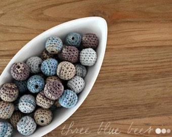 Crochet  Beads- 12 Pcs Rain