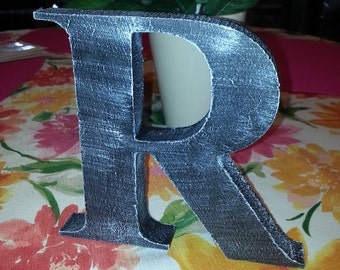 "7"" Letter Custom made and distressed painted Cottage Chic."