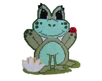 Plastic Canvas Frida Frog Wall Hanging PDF format Instant Download