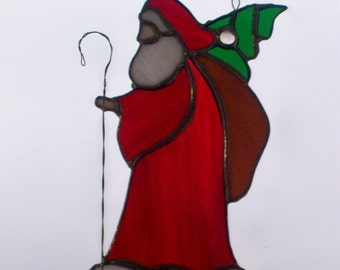 Old World Santa Stained Glass Sun Catcher