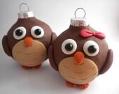 Owl Christmas Ornaments
