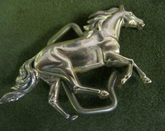 Vintage Brass Horse Buckle