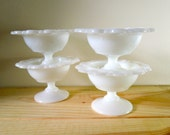 Milk Glass Compotes - Old Colony - Set of 4 ON SALE