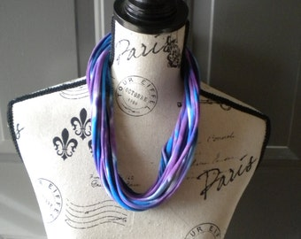Jersey Scarf Necklace in Waterdrop
