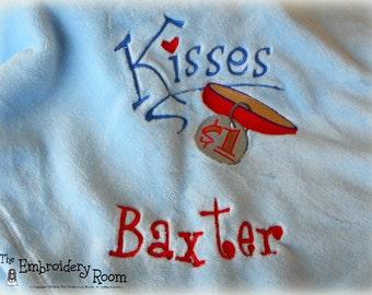 Embroidered Dog Blanket - Kisses For a Dollar