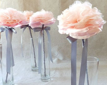 Single Flower Wand for Bridesmaid in Blush Pink