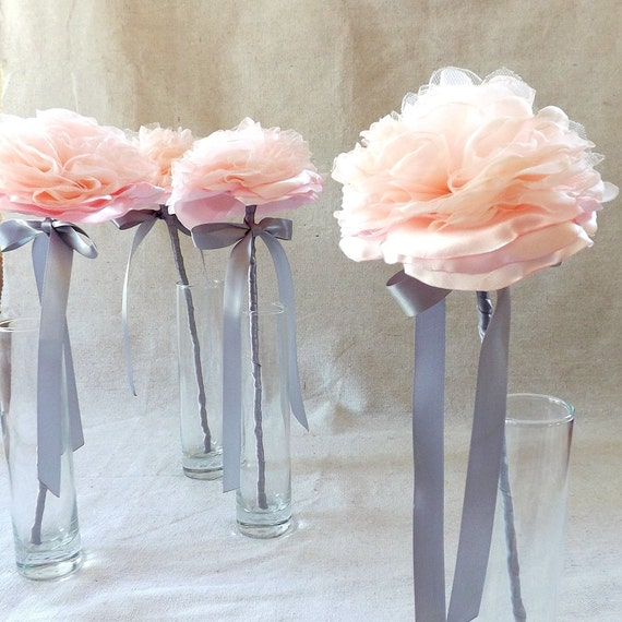 Single Flower Wand for Bridesmaid in Blush Pink by The Gingham ...