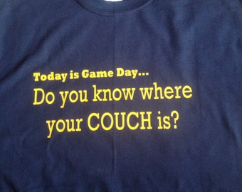 WV Gameday football basketball sports couch burning tshirt WV West Virginia Mountaineers