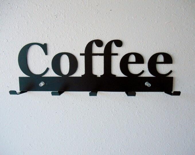 Coffee Rack- Metal Wall Hanging- Keys- Oven Mitts-