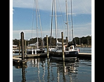 Sailboats - Cape Charles VA - Fine Art Photography Print  By Dave Lynch- FREE U.S. SHIPPING on additional items
