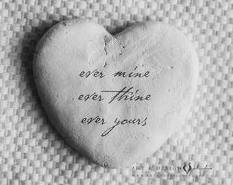 Love Quote Print - Paper Anniversary Gift, Love Wall Art, Love Artwork, Love Sign, Heart Rock Art, Romantic Gift for Him, Gifts for Her