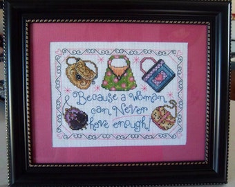 Fun and stylish cross stitched picture