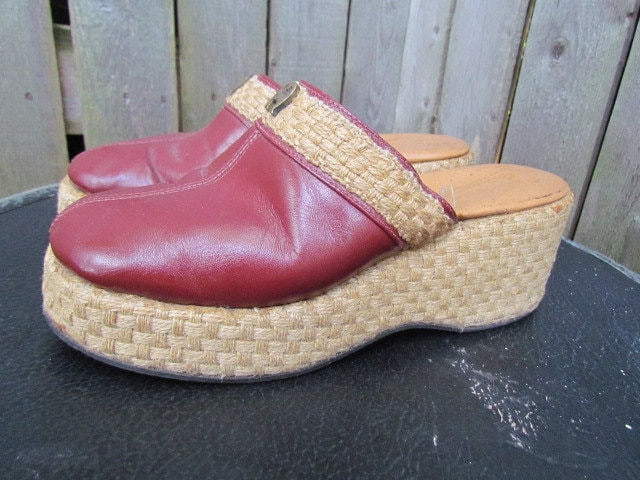 vintage 1970s wedge shoes 70s 80s 90s by glamtownvintage