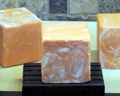 SALE SOUTHERN PEACH Handmade Cold Process Soap with Jojoba, Hemp, Argan, Wheatgerm,  Silk, Shea, Cocoa and Mango Butters