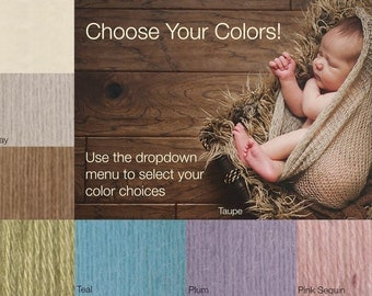 Mohair Newborn Knit Snuggle Sacks - You Choose the Colors - Newborn Baby Photography Prop