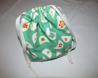 Mini Two-at-a-Time Sock Knitting Project Bag