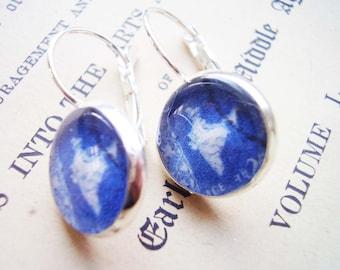 Indigo Earrings, Blue Earrings, Cobalt earrings, Vintage Style Earrings, Vintage Earrings, Indian Earrings, Silver Indian Earrings