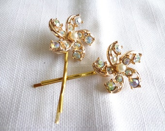 Vintage Repurposed Iridescent Hair Bobby Pin Accessories
