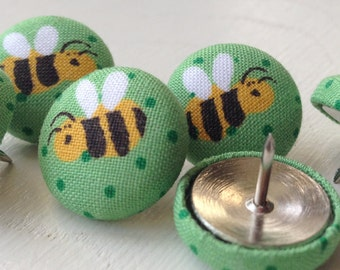 Pushpins,Push Pins,Thumbtacks,Thumb Tacks,Organization,Bulletin Board,Bee Push Pins,Bumble Bee Pushpins,Home Decor,Office Decor,Yellow Bee
