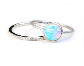 Opal Ring, Opal, Ethiopian Opal, Gold Ring, Gold Opal Ring, Ethiopian Opal Ring, Ethiopian Opal Gold Ring, October Birthstone, Nixin