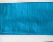 "Bright Turquoise Blue 100% dupioni silk fabric yardage By the Yard 45"" wide"