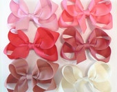 Girls Hair Bow Set Childrens Medium Kids Boutique Fashion Hair Clip Hairbows Hair accessories (Set of 6) Choose your Colors