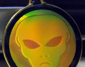 Brooding Alien Holographic Pendant
