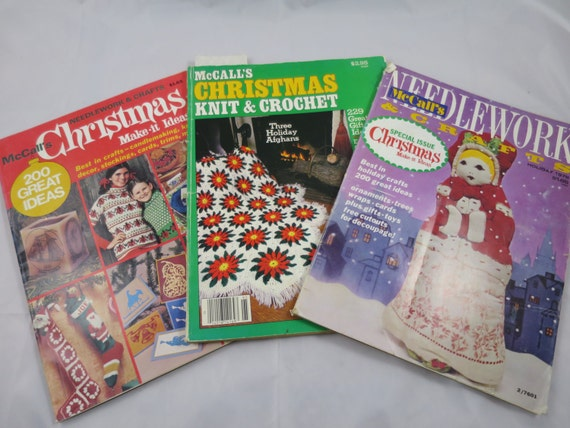 Crochet Gifts Magazine : Magazines McCalls Needlework & Craft Christmas Issues Knit Crochet ...