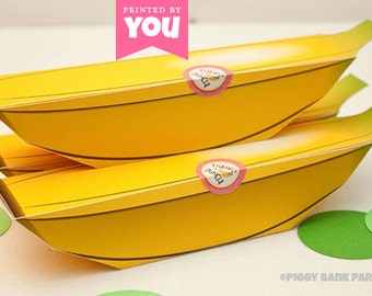 BANANA Favor Box: DIY Printable Monkey Fruit PDF - Instant Download