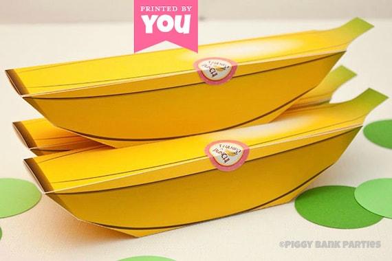 BANANA Favor Box: DIY Printable Monkey Fruit PDF - Instant Download