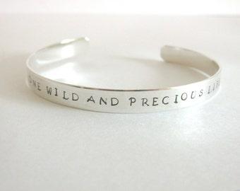 Sterling Silver Cuff Bracelet - Personalized Cuff Bracelet - Custom Cuff Bracelet- Personalized Jewelry - Wedding Gift - Mother's Bracelet