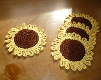 Sunflower Wedding Decor, Wedding Table Decor, Sunflower Coaster, Sunflower Decor, Summer Home Decor, Summer Wedding Decoration