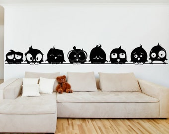 Vinyl Wall Art Decal Sticker Bird Family OSAA1705m