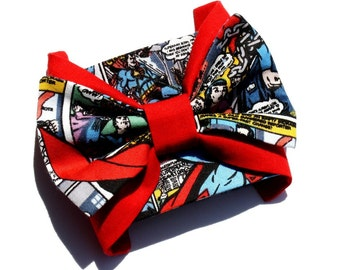 SALE!!! Bow Superhero Wrist Cuff, Superman