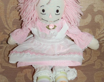 Raggedy Ann in Pink Floral 15""
