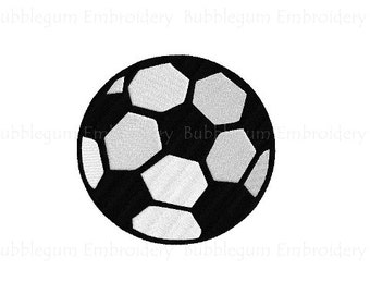 Soccer Ball Embroidery Design Instant Download