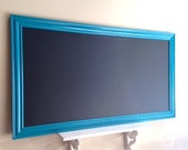 Teal CHALKBOARD Blue Black Board MAGNETIC Magnet Large Huge Tall Narrow Kids Playroom Teaching Tool Room Decor Bulletin Board Turquoise