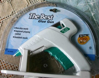 Hot Glue Gun With Stand White Green 120 Volts 40 Watts