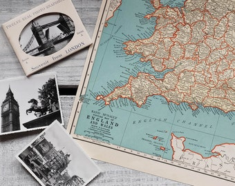 1930s Antique Maps of England and Scotland