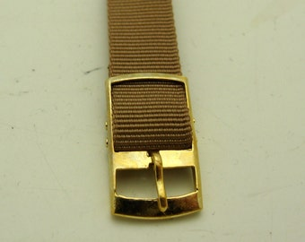 Lot Of 6 NOS Tan Watch Band Gold Tone Buckle