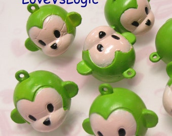 5 Monkey Head Soft Plastic Creped Charms