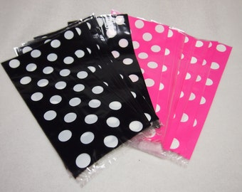 20 Minnie Mouse Cello Pink & Black Treat Polka Dots Goody Bags Favor PopCorn Party
