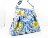 Pleated Purse, Amy Butler, Soul Blossoms, Tulips in Azure, Crossbody Bag, Shoulder Bag
