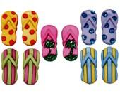 Jesse James Button Novelty Button Fab Flops Flipflops Flip Flops Shower Sandals