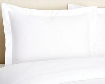 Standard Size Crisp White Cotton Bed Pillow Sham